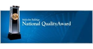 The Malcolm Baldrige Award - The very best in business service.